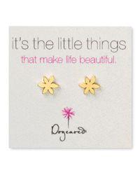 Dogeared - Metallic Star Flower Earrings - Lyst