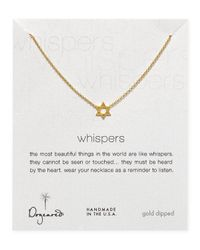 Dogeared | Metallic Star Of David Necklace 18 | Lyst