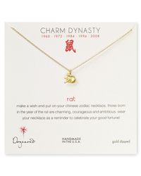 Dogeared | Metallic Year Of The Rat Dynasty Charm Necklace 18 | Lyst