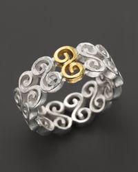 Gurhan - Metallic Vortex Ring in Sterling Silver 24k Gold - Lyst