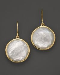 Ippolita | Metallic 18k Yellow Gold Large Lollipop Earrings In Mother-of-pearl | Lyst