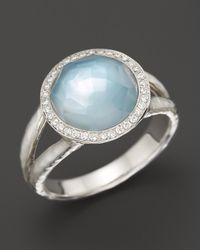 Ippolita | Multicolor Ippolita Sterling Silver Stella Ring in Blue Topaz and Motherofpearl with Diamonds | Lyst