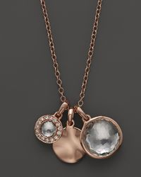 Ippolita | Metallic Ippolita Rosé Lollipop Charm Necklace in Clear Quartz with Diamonds 16 | Lyst