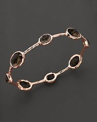 Ippolita - Metallic Rosé Rock Candy® Eight Stone Bangle In Smoky Quartz - Lyst