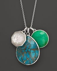 Ippolita | Metallic Ippolita Seafoam Wonderland Sterling Silver 3 Stone Pendant Necklace in Seafoam 32 | Lyst