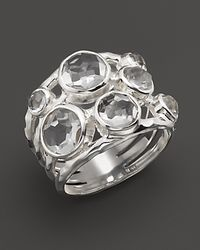 Ippolita | Metallic Sterling Silver Rock Candy Constellation Ring In Clear Quartz | Lyst
