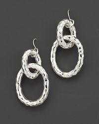 Ippolita - Metallic Sterling Silver Glamazon® Chain Link Earrings - Lyst