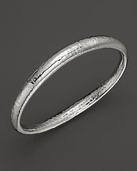 Ippolita - Metallic Sterling Silver Glamazon Skinny Sculpted Bangle - Lyst