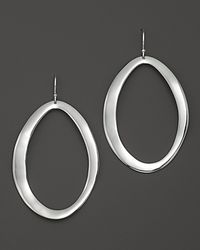 Ippolita | Metallic Sterling Silver Scultura Large Wavy Oval Earrings | Lyst