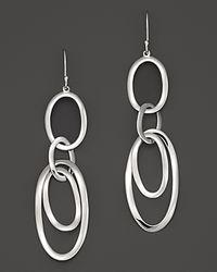Ippolita - Metallic Sterling Silver Scultura Multi Oval Link Earrings - Lyst