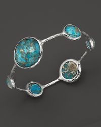 Ippolita | Metallic Sterling Silver Wonderland Lollipop Bangle In Bronze Turquoise | Lyst