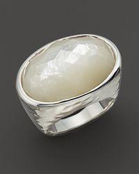 Ippolita - Metallic Ippolita Sterling Silver Wonderland Oval Ring in Mother of pearl Doublet - Lyst