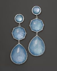 Ippolita | Metallic Sterling Silver Wonderland Crazy 8'S Earrings In Sky Doublet | Lyst