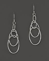 John Hardy - Metallic Bamboo Sterling Silver Dangling Earrings - Lyst