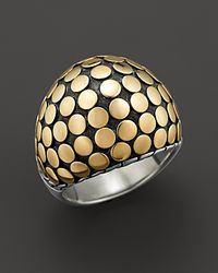 John Hardy - Metallic Dot Gold And Sterling Silver Dome Ring - Lyst