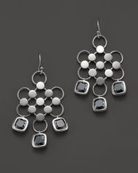 John Hardy | Metallic Dot Silver Batu Diagonal Square Earrings with Hematite | Lyst