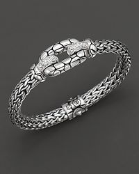 John Hardy - Metallic Kali Lava Station Bracelet with White Topaz - Lyst