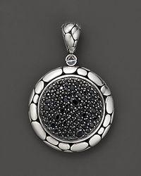"John Hardy - Metallic ""Kali Lavafire"" Medium Round Enhancer With Black Sapphires - Lyst"