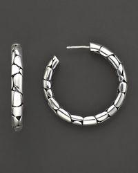 "John Hardy - Metallic ""Kali"" Medium Hoop Earrings - Lyst"
