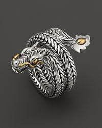 John Hardy | Metallic Naga 18k Gold And Silver Dragon Coil Ring | Lyst