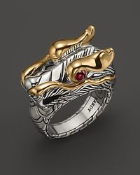 John Hardy - Metallic Naga 18K Gold And Sterling Silver Dragon Head Ring - Lyst