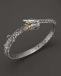 John Hardy | Metallic Sterling Silver & 18k Gold Naga Dragon Slim Kick Cuff | Lyst