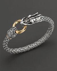 John Hardy | Metallic Naga 18K Gold And Sterling Silver Dragon Bracelet | Lyst