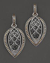"John Hardy - Metallic ""Naga Lava"" Marquise Drop Earrings With Black Sapphire - Lyst"