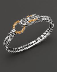 John Hardy | Metallic Naga Lava Dragon Head Bracelet with Citrine | Lyst