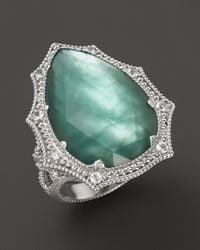 Judith Ripka - Metallic Bright Nite Large Pear Stone Ring - Lyst