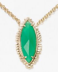 Kendra Scott | Green Luna Pendant Necklace 18 | Lyst
