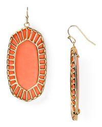 Kendra Scott - Orange Delilah Earrings - Lyst
