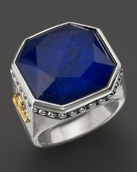 Lagos | Blue Sterling Silver Lapis Color Rocks Ring | Lyst