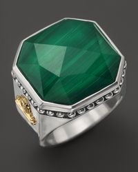 Lagos | Metallic Sterling Silver Malachite Color Rocks Ring | Lyst
