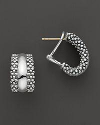 Lagos - Metallic Caviar Hoop Earrings In Sterling Silver - Lyst