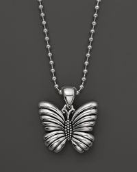 Lagos | Metallic Rare Wonders Butterfly Pendant Necklace, 34"