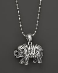 Lagos | Metallic Rare Wonders Elephant Pendant Necklace, 34"