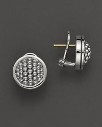 Lagos - Metallic Sterling Silver 15mm Caviar Button Earrings - Lyst