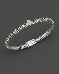 Lagos | Metallic Twilight Caviar Bracelet With One Diamond Station, 6mm | Lyst