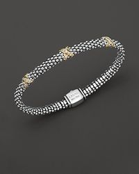 Lagos | Metallic 18k Green Gold And Sterling Silver X Collection Diamond Rope Bracelet, 6mm | Lyst