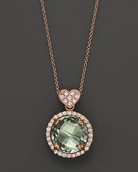 """Lisa Nik - Metallic Prasiolite And Diamond Rocks Pendant Necklace 18K Rose Gold, 18"""" - Lyst"""