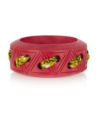Lulu Frost - Red Carved Wooden Bangle - Lyst