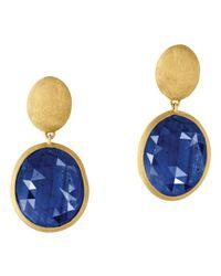 Marco Bicego - 18k Yellow Gold Siviglia Blue Sapphire Earrings - Lyst