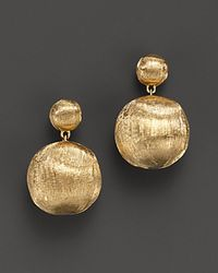 Marco Bicego | 18 K Yellow Gold Bead Drop Earrings | Lyst
