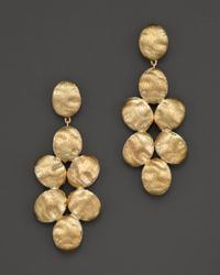 Marco Bicego | Cluster Sivig 18k Yellow Gold Drop Earrings | Lyst