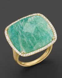 Meira T - Blue 14k Yellow Gold Amazonite and Diamond Ring - Lyst