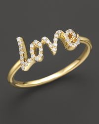 Meira T | Yellow Diamond Love Ring, .12 Ct. T.w. | Lyst