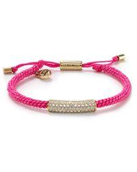 Michael Kors | Pink Macrame Pave Friendship Bracelet | Lyst