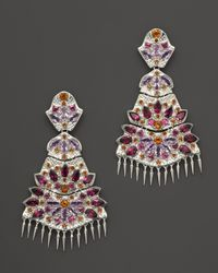 Paul Morelli - Purple Applique Quad Dangle Earrings With Rhodolite, Amethyst And Madeira Citrine - Lyst