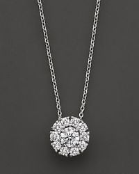 Roberto Coin | 18 Kt. White Gold Cluster Pendant | Lyst